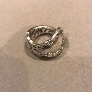 Heavy Sterling Silver Spoon Ring